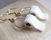 Toilet Paper earrings, hook earrings, allow 2 weeks before shipping