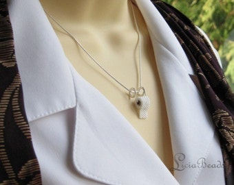 Toilet Paper necklace with spiral dangle, 18 inches, allow up to 2 weeks before shipping