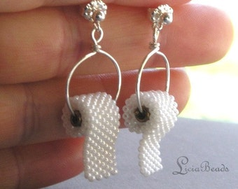 Toilet Paper earrings on sterling silver or gold plated posts, allow 2 weeks before shipping
