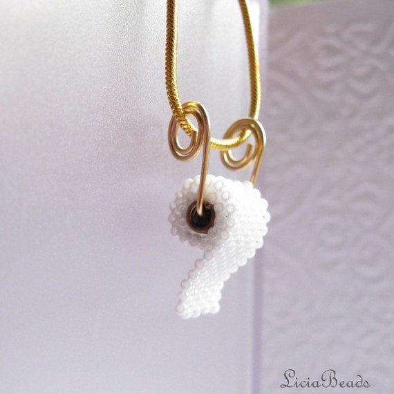Toilet Paper On Your Neck Gold Plated Necklace Allow By LiciaBeads