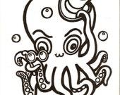Tshirt Octopus Weird Steampunk