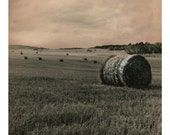 Bales of Hay, Countryside surreral chemically manipulated photo