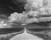 Approaching Storm - Hand printed photograph in the darkroom