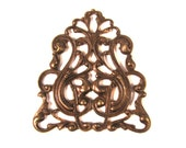 Vintaj Natural Brass Nouveau Crest Filigree