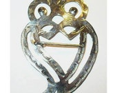 Sterling Trade Silver Owl Guardian of the Night Luckenbooth Brooch