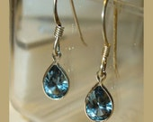 Blue Spinel Earrings in Sterling Silver