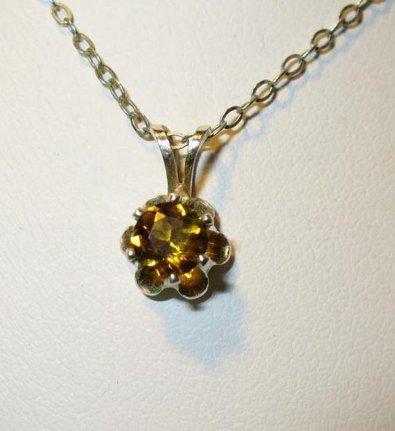 Dravite Tourmaline Pendant Necklace in Sterling Silver