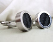 Groomsmen Gift - Carbon Fiber Cufflinks - Set of 5 - For Car and Racing Enthusiasts