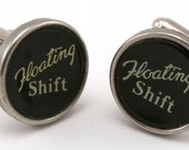 Men's Cufflinks - Typewriter Key Cuff Links - Floating Shift