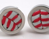 Baseball Cufflink handmade using a real baseball  (Game used also available)