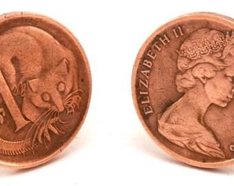 Australia One Cent Cufflinks