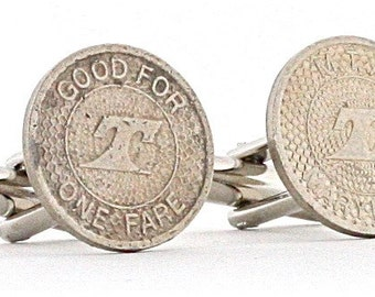 Maryland Cufflinks - Made from Transit Tokens