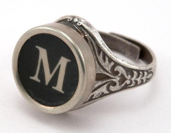 M Letter In Ring Letter M Antiqu...