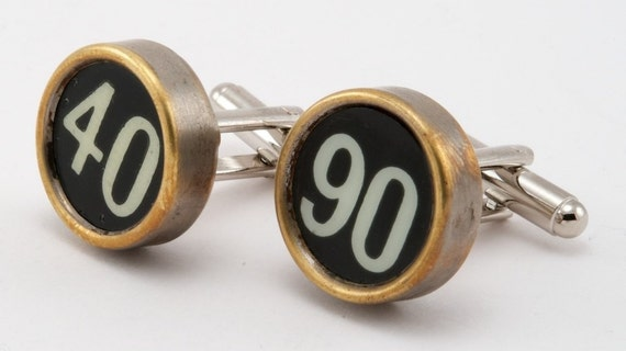Antique Cash Register Key Cuff Links Lucky Numbers
