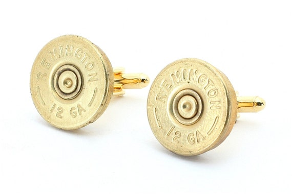 Bullet Cufflinks - Remington 12 Gauge Shotgun Shell Cufflinks with Cuff Links Box