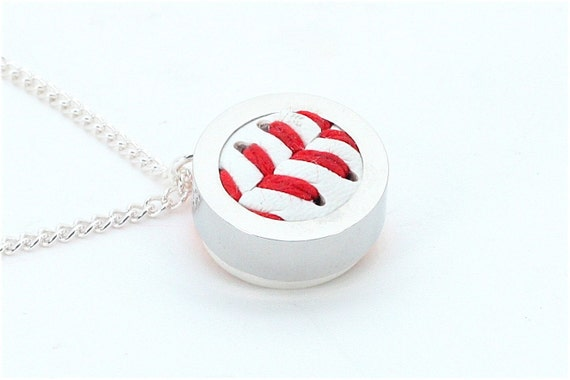 Baseball Pendant and Necklace - Made from a Real Baseball