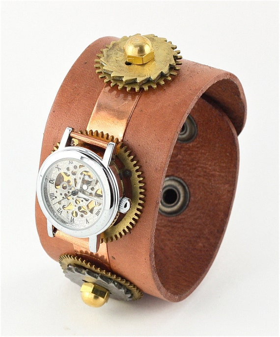 Items Similar To Sale Ladies Steampunk Watch Light Brown