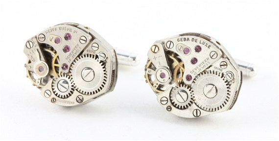 Sterling Silver Steampunk Cufflinks - Handcrafted in California