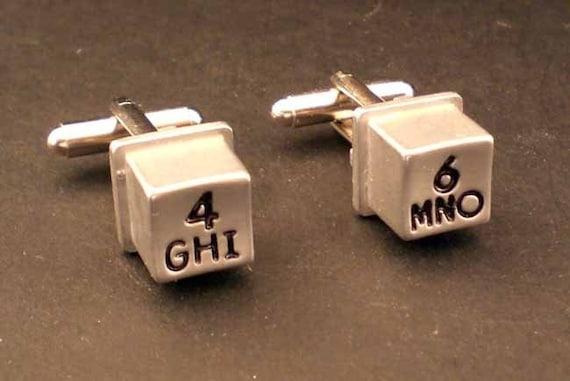 Vintage Telephone Keys Cufflinks