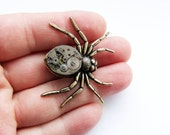 Steampunk spider brooch