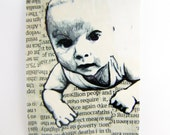 Baby baby one, ACEO print