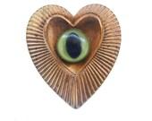 eye heart you brooch