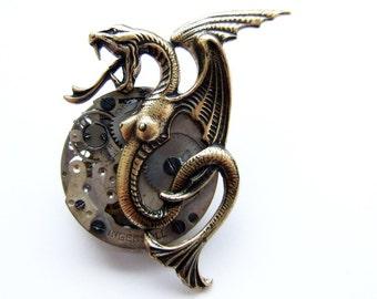 Steampunk Melusine brooch