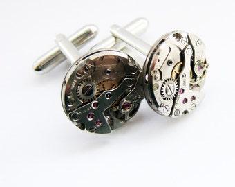 Circular Steampunk Cufflinks
