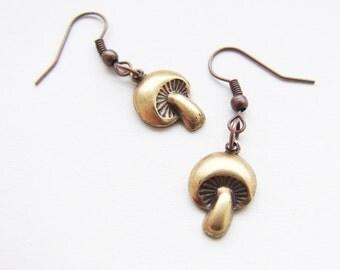 mushroom earings