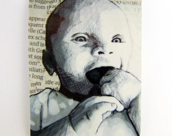 Baby baby two, ACEO print