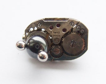 Steampunk magnetic brooch