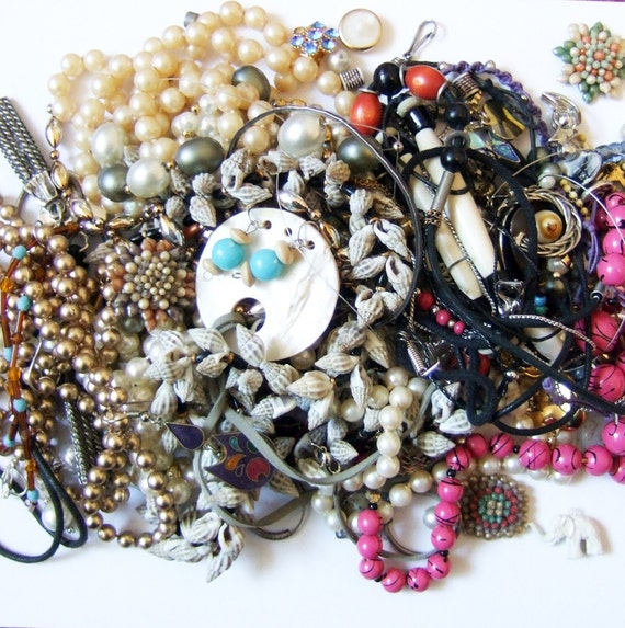 Enormous pile of jewelry for recycling