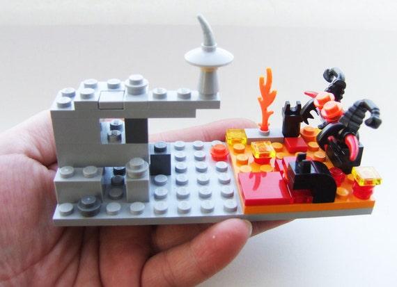 Gandalf and the Balrog, LEGO, micro scene