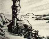 Lighthouse ACEO Original Pencil and Ink