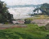 Oil Painting - Landscape - Great Bay II - 7 x 14 -  by Michelle Arnold Paine
