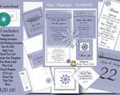 Delux Winter Wonderland Wedding Invitation Kit on CD