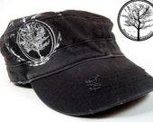 Bare Tree Apparel on Black Alternative Apparel Destroyed Military Hat