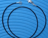 16 - 20  Inch Leather Cord Necklace - Black (1 mm in diameter)