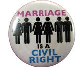 Marriage is a Civil Right Button