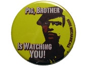 Rude Mechanicals Black Panther Button
