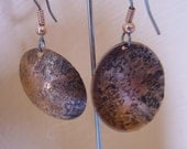 Copper Round Textured Earrings