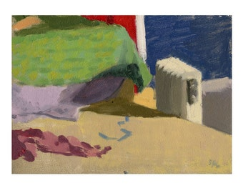 Original Oil Painting - Still Life/Interior - The Model Stand