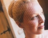 The ORIGINAL Ivory Marilyn French Russian Netting Birdcage Wedding Veil from Something Bold