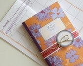 Printable Calendar and Matching Gift Tags ( PDF Blank Inside Booklet) - Vintage Floral Two