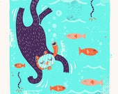 Love Them Fishies Alley Cat Print