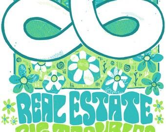 Real Estate/Big Troubles Concert Poster
