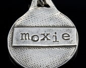 RESERVED  Moxie pendant necklace in fine silver