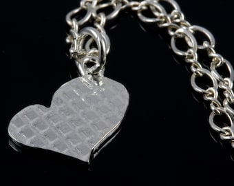 Checkered Heart Necklace