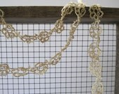 Vintage Tatted Lace  Garland or  Necklace Greige
