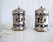 Vintage Silver Filigree Canister Sugar